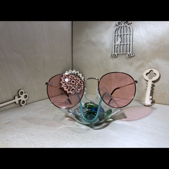 c8d66c640c6e Rose colored round frame sunglasses
